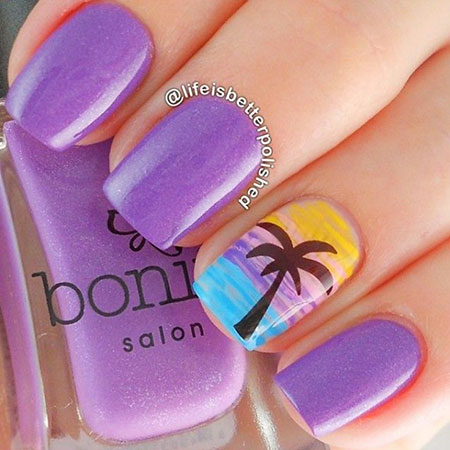 Awesome Tree Nail Art, Summer Beach Rock Ideas