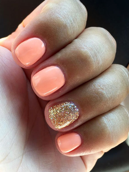 Summer Trend Short Nails, Manicure Short Gel Manikúra