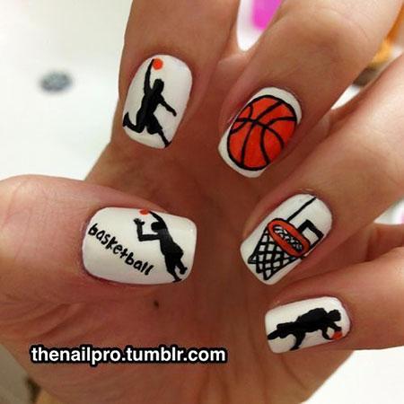 Basket Nail Design, Halloween Love Hello Tribal