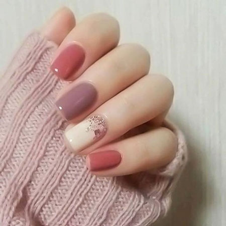 Simple Nail Design, Manicure Gel Autumn Fall