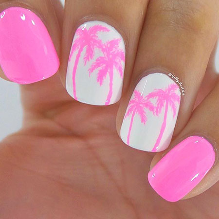 Summer Pink Nails, Summer Gorgeous 2017 Awesome