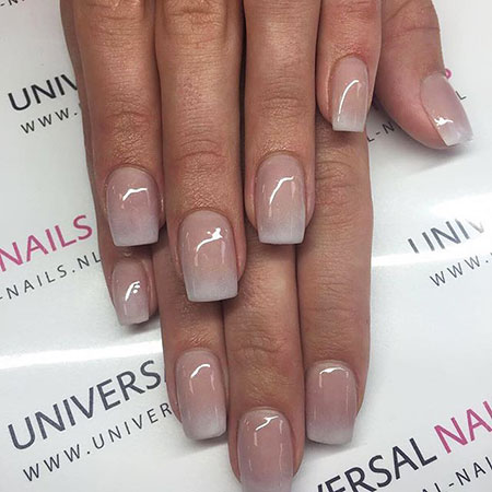Nude Natural Nails, Shellac Nude Ombre Manicure
