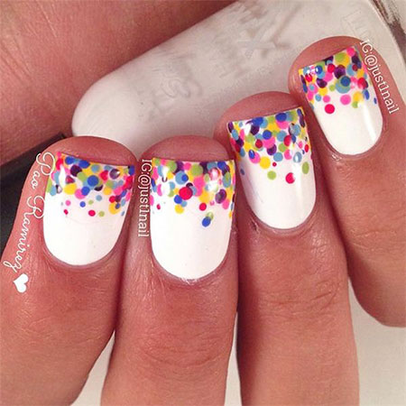Chic Medium Nails, Short Ideas Dots Fun