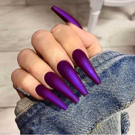 Very Long Cute Nails, Brown Ongles Claw Coffin