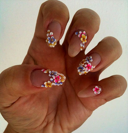 Natural Flower Nail Design, Flower Floral Flowers Acrylic