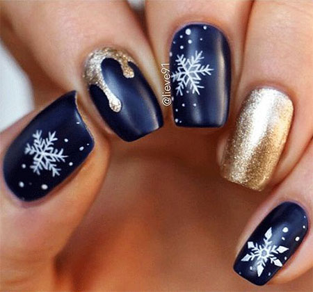 Winter Christmas Gel Manicure
