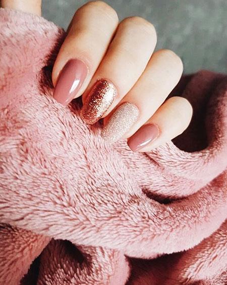 Manicure Black Acrylic Glitter