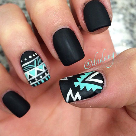 Mint Matte Black Tribal