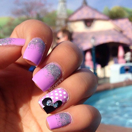 Disney Bow Manicure