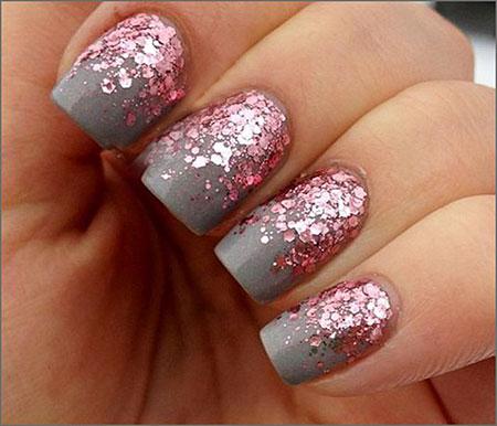 Pink Glitter Most Cute