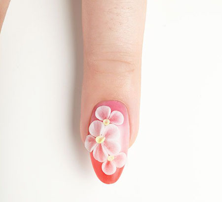 Flower 3D Manicure Flowers