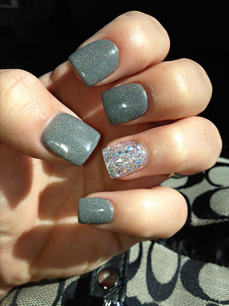 Gray Glitter Most Trendy