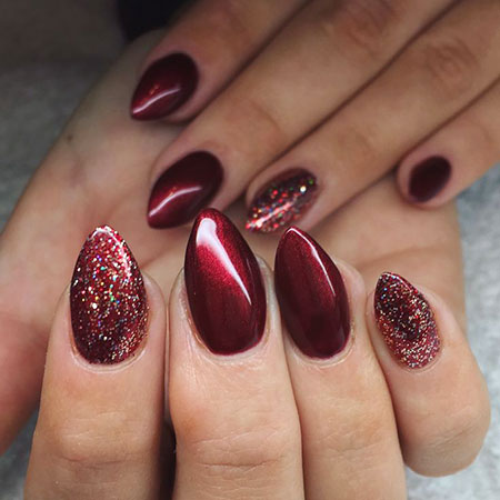 Winter Glitter Manicure Shellac