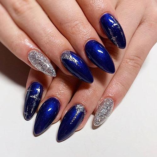 Blue Cute Nails
