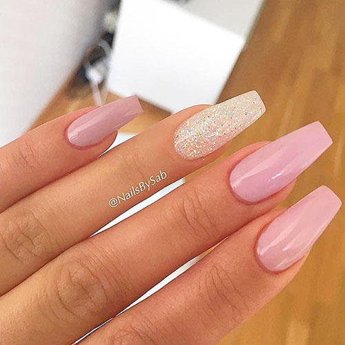 Ballerina Slipper Nails