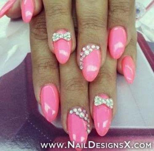 Nail Bows And Gems