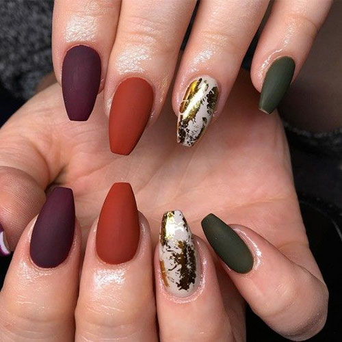 Multi Colored Nails
