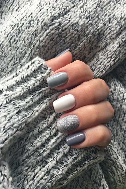 Winter Acrylic Nails