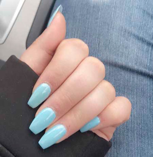 Light Blue Acrylic Nails