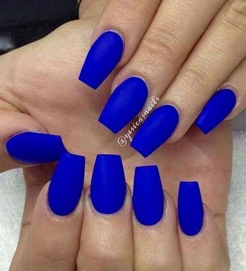 Acrylic Royal Blue Nails