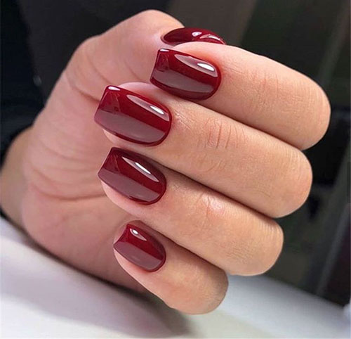Acrylic Square Nails Short