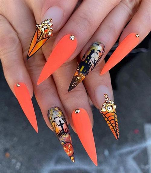 Halloween Nails Stiletto