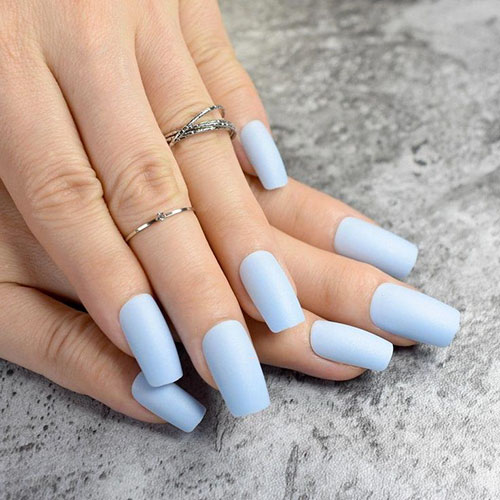 Acrylic Nails Blue