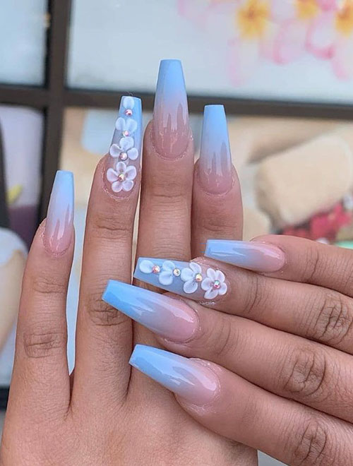 Aqua Blue Acrylic Nails