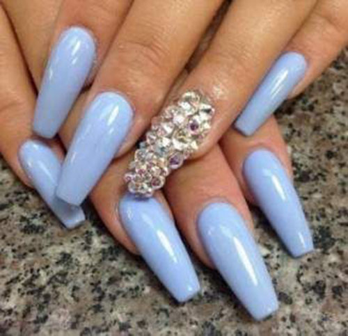 Nails Acrylic Blue