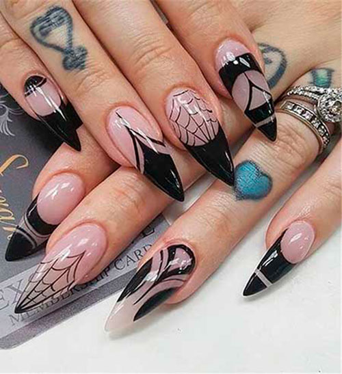 Halloween Stiletto Nails