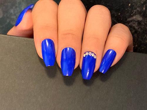 Royal Blue Acrylic Nails