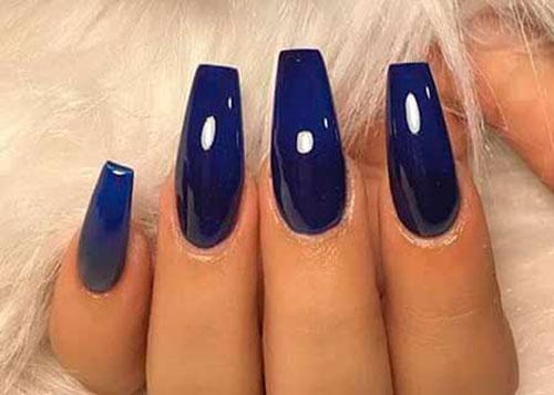 Acrylic Nails Blue