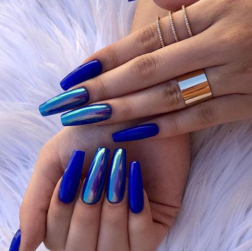 Blue Nails Acrylic