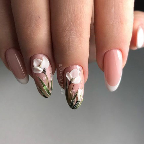 3D Sunflower Nails