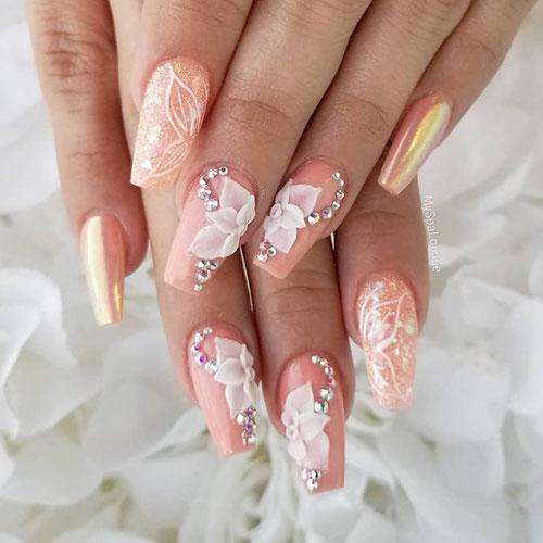 Daisy Flower Nail Art