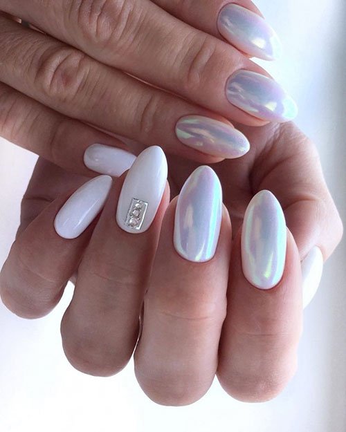 Mother Of Pearl Nail Art