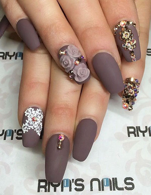 False Nails With Gems