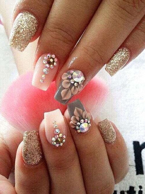Lotus Flower Nail Art