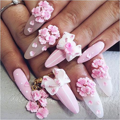 Basic Flower Nail Art