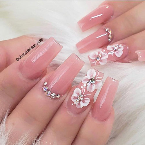 Lily Flower Nail Art