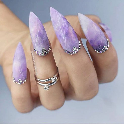 Nail Art With Gems